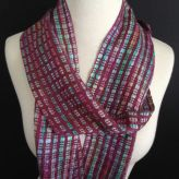 Tencel and charmeuse scarf