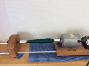 Electric bobbin winder (with attachments is also a cone winder!)