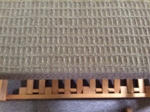 Waffle weave towel in dark cocoa cotton