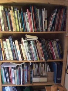 (most) of my knitting and weaving library