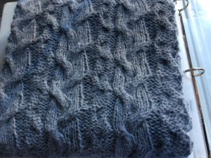 Cabled scarf in Rowan Felted Tweed