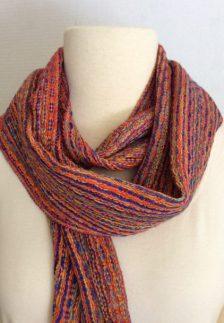 Hand dyed alpaca silk, tencel scarf