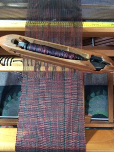 Shuttle with pirn loaded for weaving