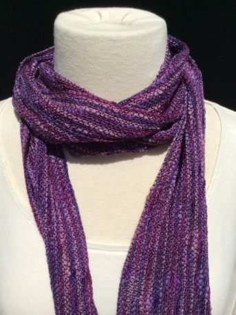 Skinny accent scarf with fringe